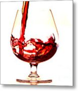 Red Wine Metal Print by Michal Boubin