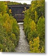 Redridge Steel Dam 7844 Metal Print by Michael Peychich