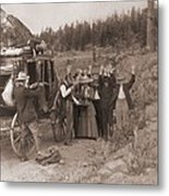 Reenactment Of A Stage Coach Robbery Metal Print by Everett