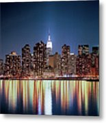 Reflection Of Skyline Metal Print by Shi Xuan Huang Photography