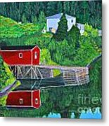 Reflections H D R Metal Print by Barbara Griffin