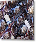 Reflections In Sunglasses Metal Print by Jeremy Woodhouse