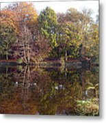 Reflections Of Autumn Metal Print by Rod Johnson