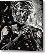 Refugee Evacuee Metal Print by Larry Poncho Brown