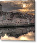 Regensburg Cityscape Metal Print by Anthony Citro