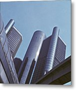 Renaissance Center In Detroit Metal Print by Will & Deni McIntyre