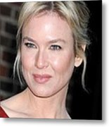 Renee Zellweger At Talk Show Appearance Metal Print by Everett