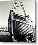 Retired Fishing Boat Metal Print by Sharon Lisa Clarke
