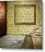 Retro Room Interior Metal Print by Setsiri Silapasuwanchai