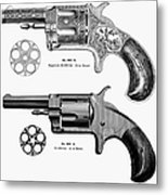 Revolvers, 19th Century Metal Print by Granger