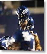 Rice Football Helmets  Metal Print by Anthony Vasser