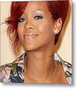 Rihanna At Arrivals For Rhianna  Book Metal Print by Everett