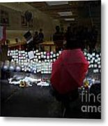 Rip Steve Jobs . October 5 2011 . San Francisco Apple Store Memorial 7dimg8558.highlighted Metal Print by Wingsdomain Art and Photography