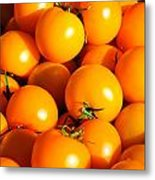 Ripe Yellow Tomatoes Metal Print by Connie Cooper-Edwards