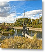 River At Hudson Wy. Metal Print by James Steele