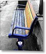 River Bench Metal Print by Roberto Alamino