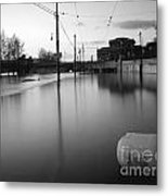 River In Street Metal Print by Odon Czintos