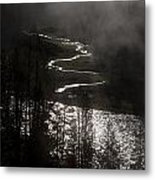 River Of Silver Metal Print by Charles Warren