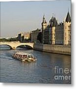 River Seine And Conciergerie. Paris Metal Print by Bernard Jaubert