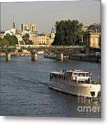 River Seine In Paris Metal Print by Bernard Jaubert