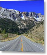 Road Marking On Road Metal Print by David Toussaint - Photographersnature.com