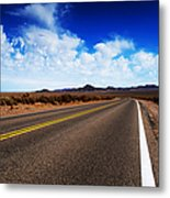 Road Through Rural Area Metal Print by Jacobs Stock Photography