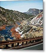 Road To Taos Village 1 Metal Print by Lisa  Spencer