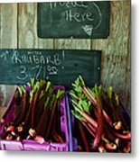 Roadside Produce Stand Rhubarb Metal Print by Denise Lett