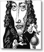 Robert Boyle, Caricature Metal Print by Gary Brown