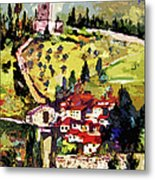 Rocca Maggiore Assisi Italy Metal Print by Ginette Callaway