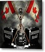 Rock N Roll Crest- Canada Metal Print by Frederico Borges