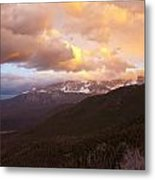 Rocky Mountain Sunset Metal Print by Charles Warren