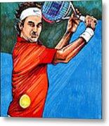Roger Federer Metal Print by Dave Olsen