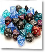 Role-playing Dices Metal Print by Fabrizio Troiani