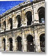 Roman Arena In Nimes France Metal Print by Elena Elisseeva