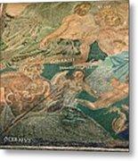 Roman Cosmological Mosaic Metal Print by Sheila Terry