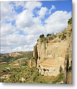 Ronda Cliffs In Andalusia Metal Print by Artur Bogacki