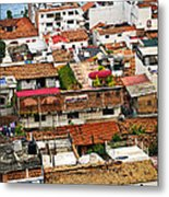 Rooftops In Puerto Vallarta Mexico Metal Print by Elena Elisseeva
