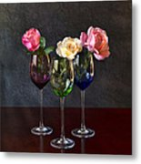 Rose Colored Glasses Metal Print by Peter Chilelli