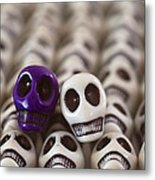Royal Purple And White Metal Print by Mike Herdering
