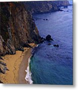 Rugged Shoreline Metal Print by Ron Regalado