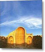 Ruins Of Shivta Byzantine Church Metal Print by Nir Ben-Yosef