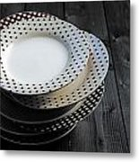 Rural Plates Metal Print by Joana Kruse