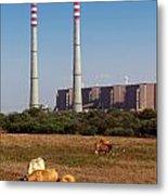 Rural Power Metal Print by Carlos Caetano