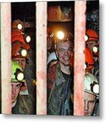 Russian Miners Metal Print by Ria Novosti