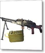 Russian Pkm General-purpose Machine Gun Metal Print by Andrew Chittock
