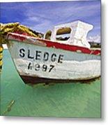 Rustic Fishing Boat Of Aruba II Metal Print by David Letts