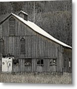 Rustic Weathered Mountainside Cupola Barn Metal Print by John Stephens