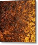 Rusty Background Metal Print by Carlos Caetano
