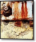 Rusty Bolt Abstraction Metal Print by Anna Villarreal Garbis